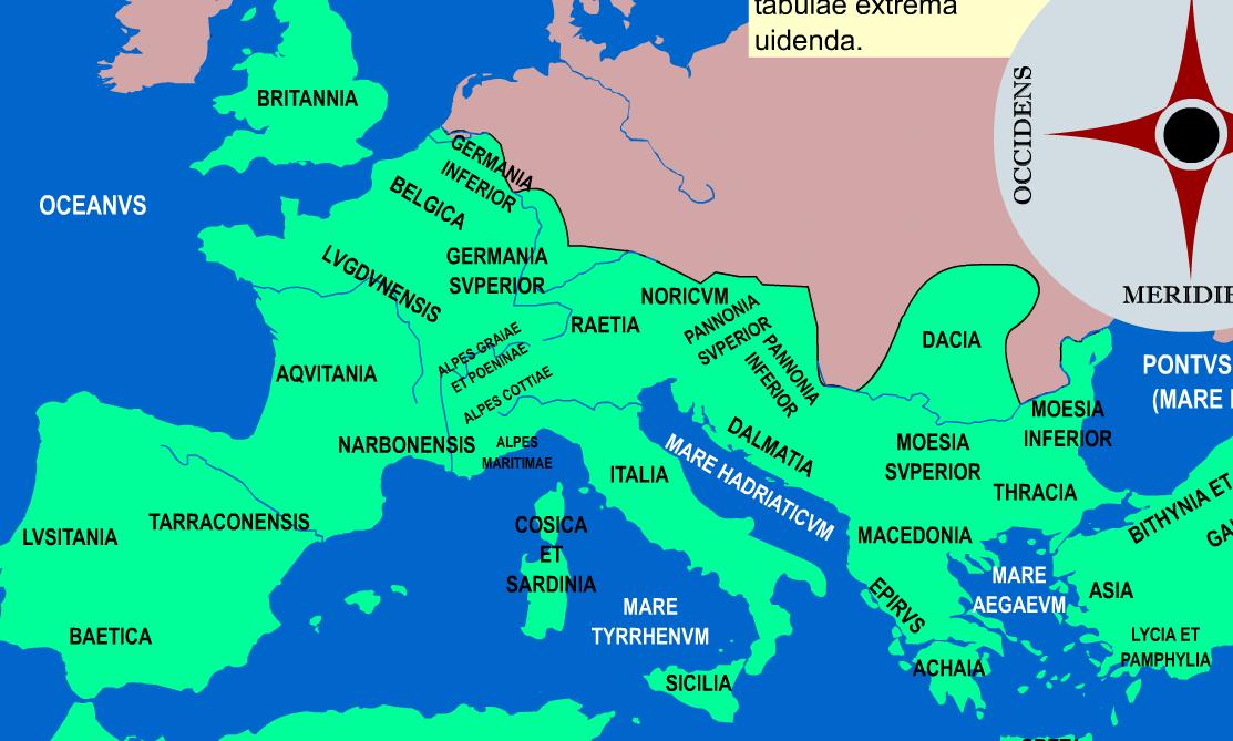 Mapas interactivos variados sobre la Roma Antigua y un eje