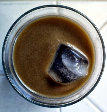cold brew coffee with homemade almond milk