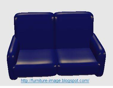 blue 2 seat sofa picture