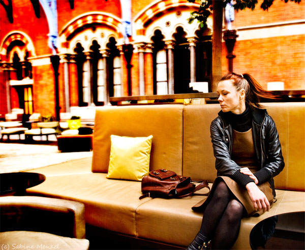 Psynopsis St Pankras Hotel Next Dress Mango Leather Jacket