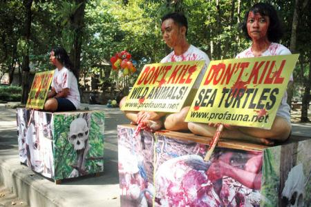 ProFauna Bali Protes Kuliner dari Satwa Liar