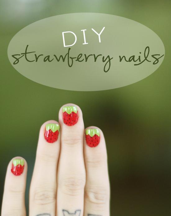 diy vernis à ongles fraise