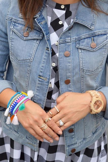 Jord Sydney Watch, Purple Peridot Tassel Bracelets