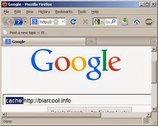 Internet Tips Google webcache melihat halaman situs website down offline mati link 1