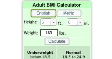 Give me a bmi calculator