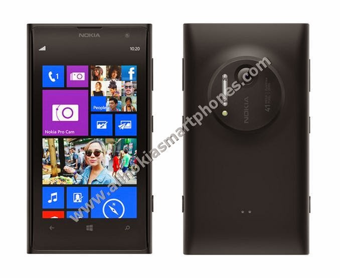 Nokia Lumia 1020 RM-877 4G Android Smartphone Black Front Back Images Photos Review Price