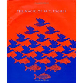 mc escher, book, magic