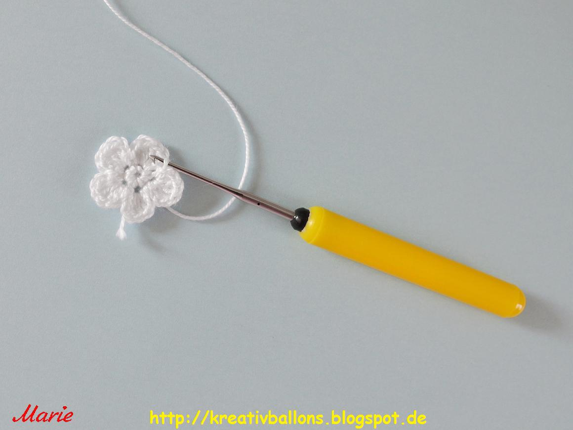 Amazing Kleine Häkelarbeitblume Frei Muster Model - Decke Stricken ...