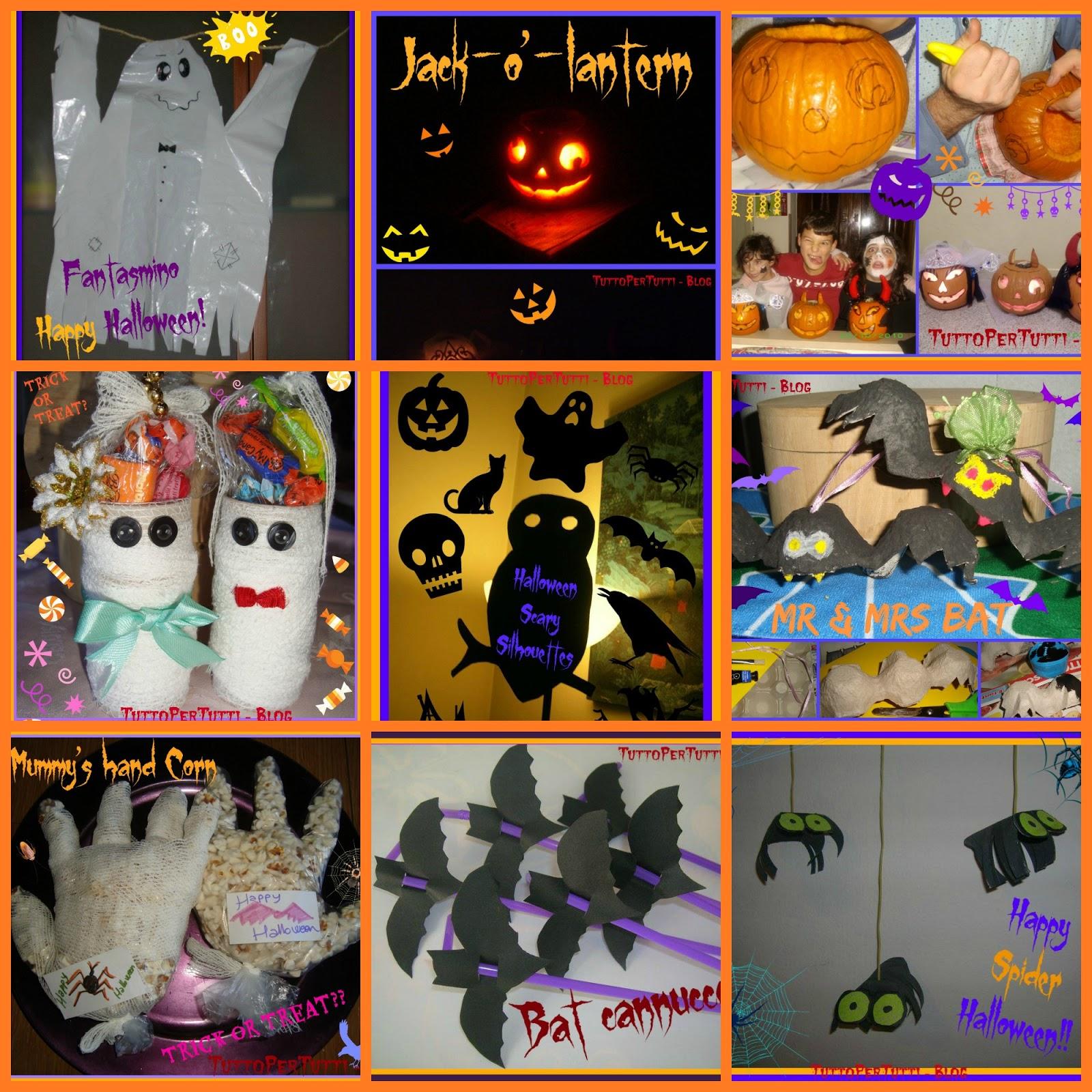 Tuttopertutti decorazioni spettrali fai da te special halloween - Decorazioni fai da te per halloween ...