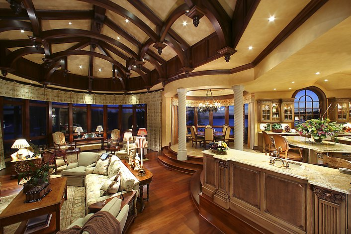 Wood false ceiling designs for living room - Luxury kitchen room ...
