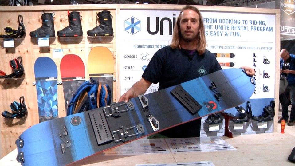 Een splitboard in 4 delen. De Premiere van Salomon Snowboards.