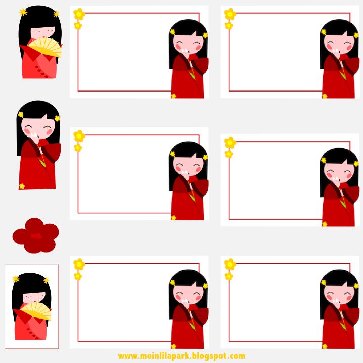 Free Printable Kokeshi Doll Stickers And Tags Koskeshi