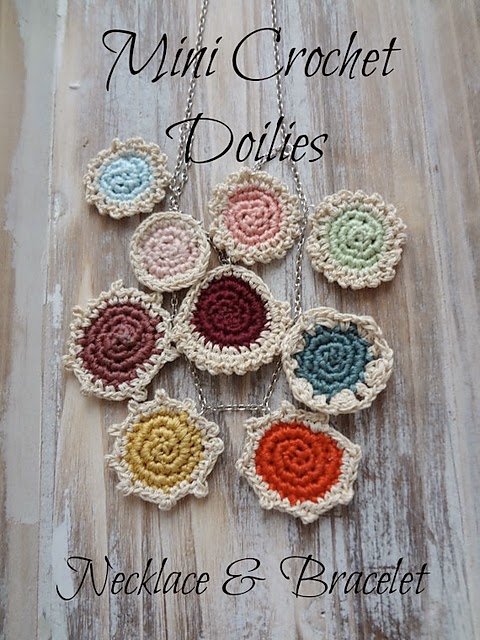 free crochet pattern mini doily jewelry