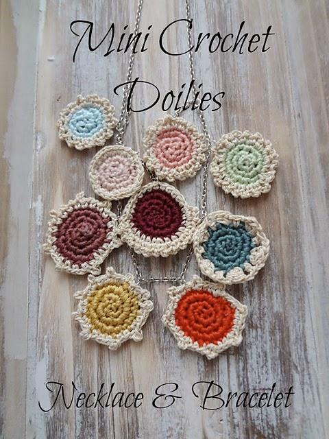 free crochet pattern mini doily jewelry