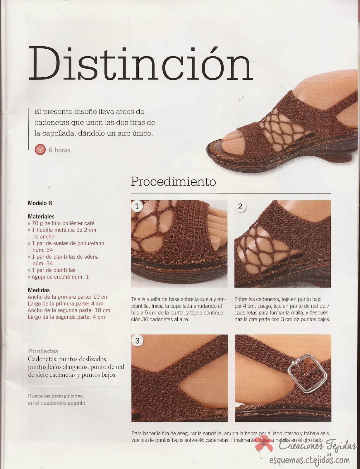 Zapatos a Crochet - Sandalias en Malla