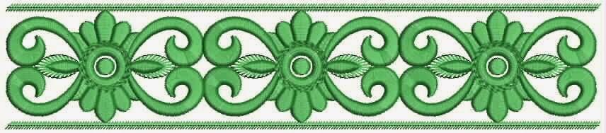 groen kleur blomme werk kant ontwerp