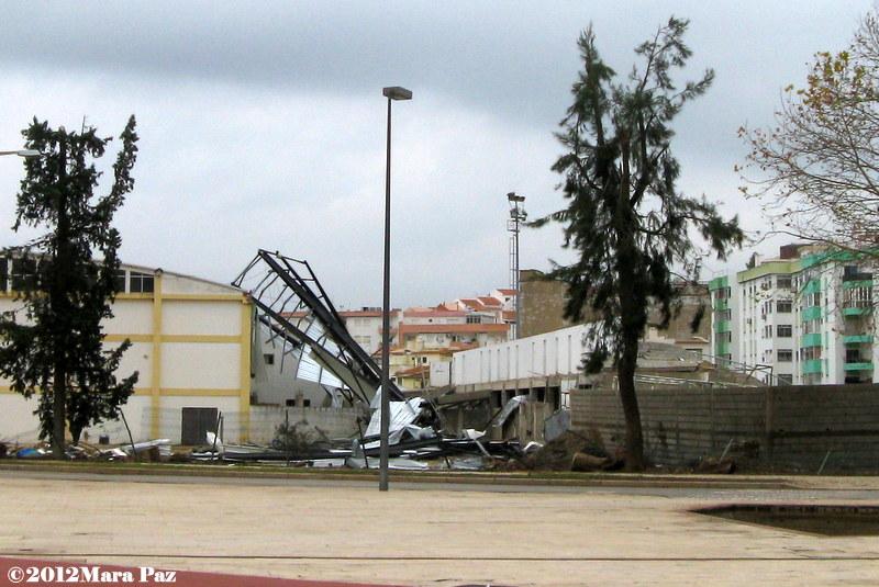 Estádio de Silves após tornado