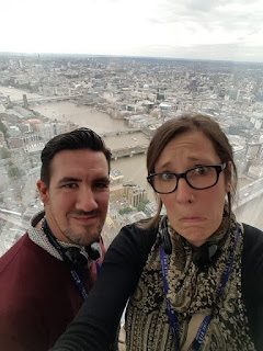 Selfie at the top of The Shard London