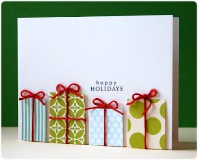 Tarjeta Navidad regalos