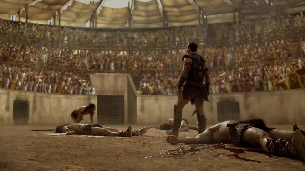 spartacus gladiator fights