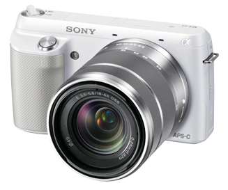 sony nex-f3 silver front