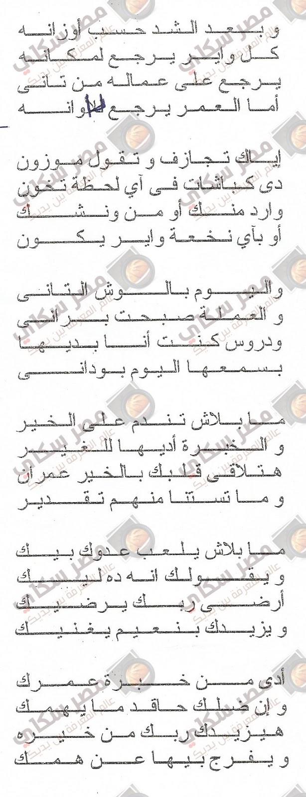 ياله جهز ياوناش بقلم السيد عبد الحفيظ السيد