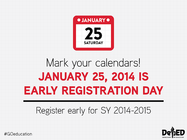 DepEd Early Registration Day 2014 Order
