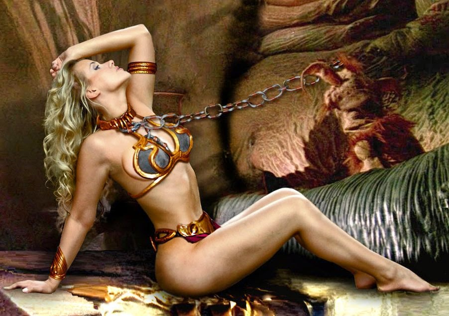 Lola Melnick/Princess Leia Slave/Jabba The Hutt