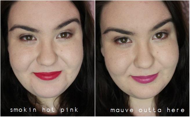 Wet N Wild Lipsticks- Smokin' Hot Pink & Mauve Outta Here