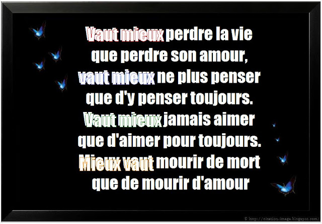 Citation sur la mort en image