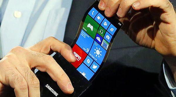 handphone samsung layar fleksible amoled, layar yang bisa ditekuk