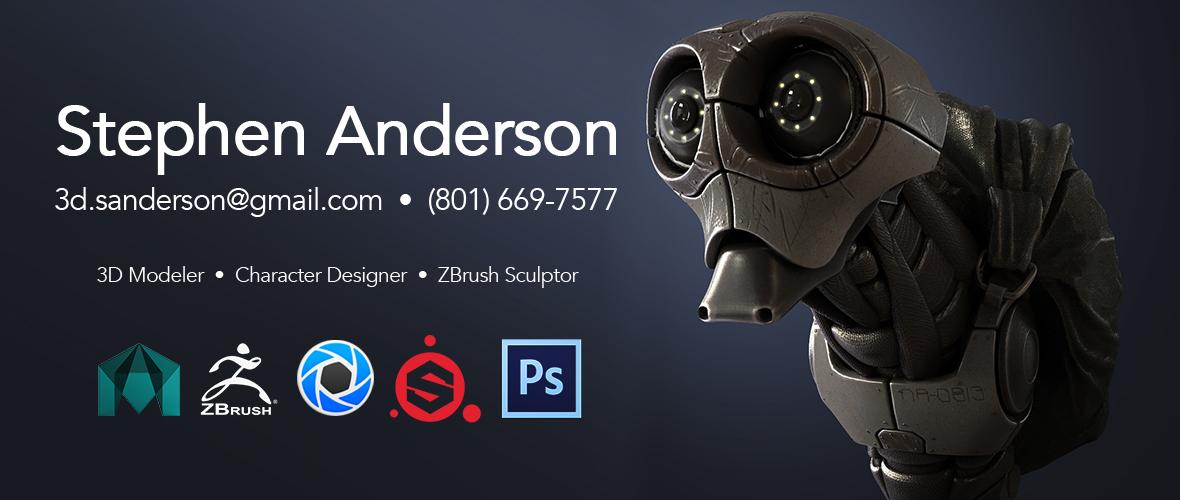 Stephen Anderson - 3D Modeler