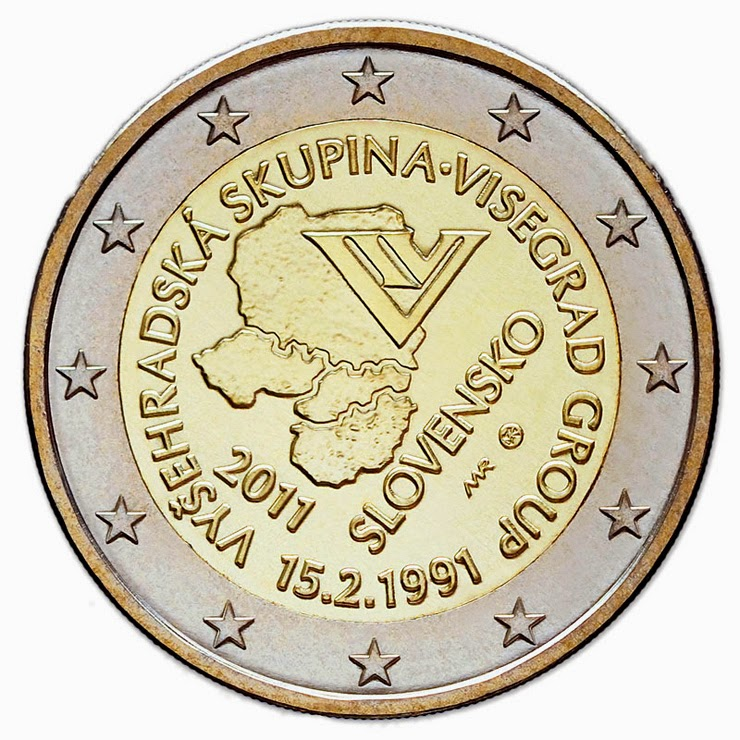 2 Euro Commemorative Coins Slovakia 2011 Visegrad Group