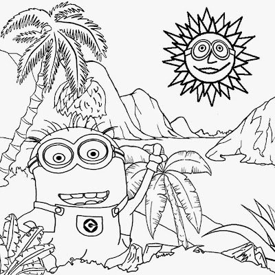 Free Minion Coloring Pages for Kids