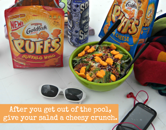 give your salad a cheesy crunch