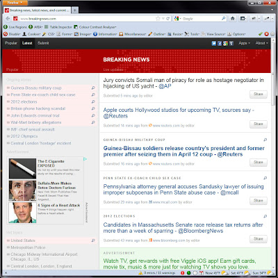 Screen shot of .http://www.breakingnews.com/