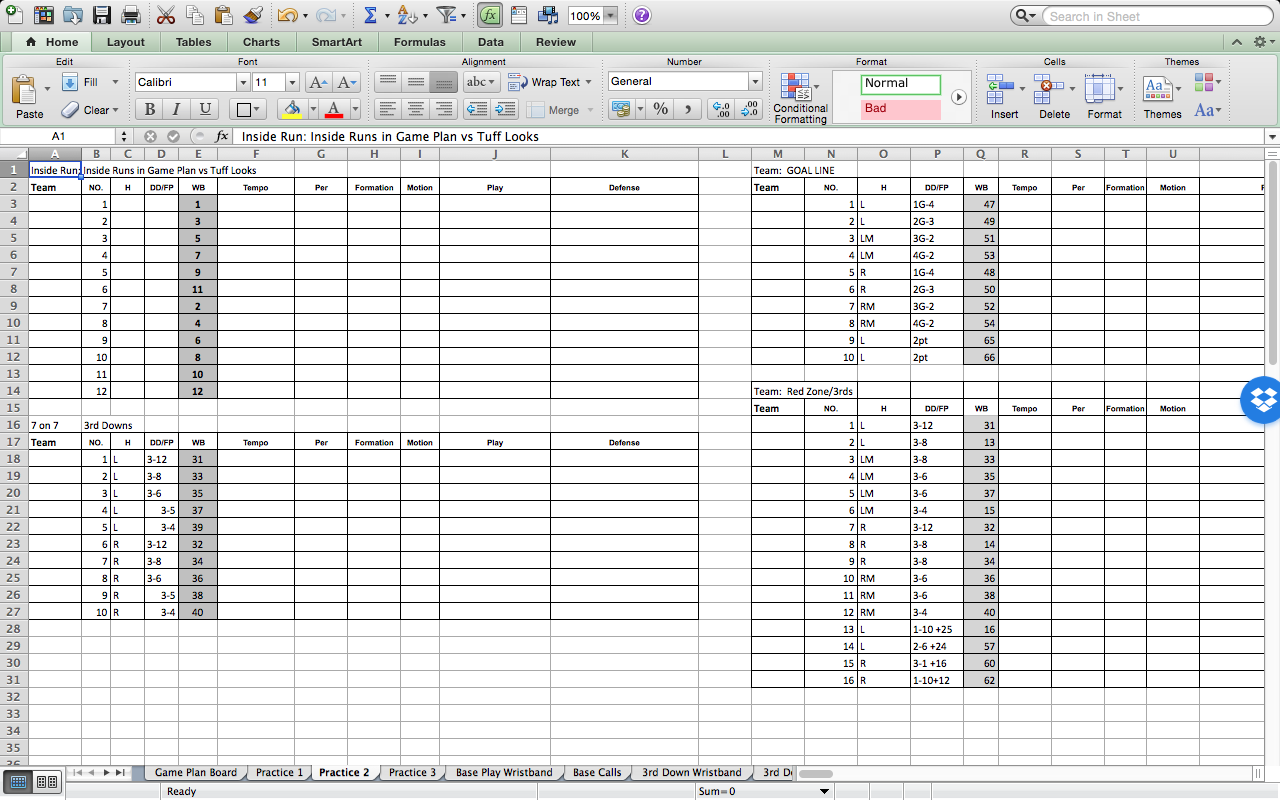 Run Sheet Template Excel