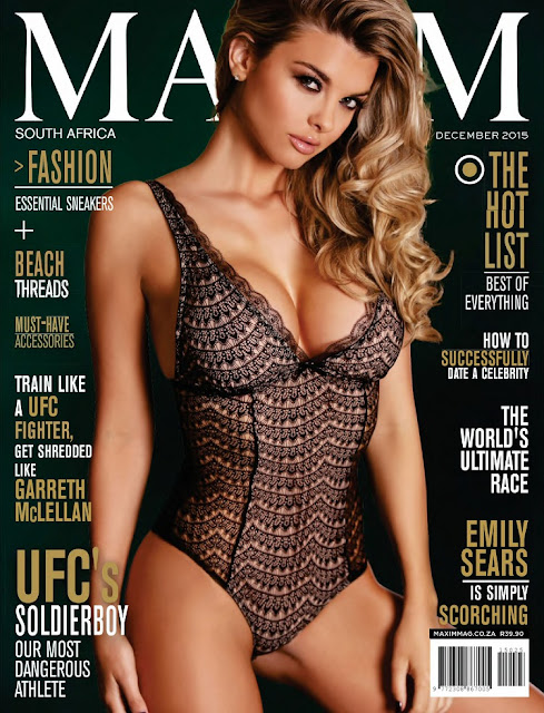 Glamour Model @ Emily Sears - Maxim South Africa, December 2015