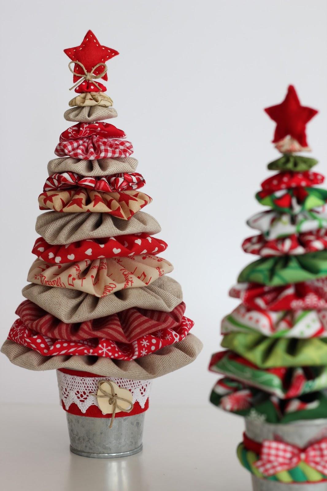 Mi hogar de patchwork arboles de navidad con yo yos for Cesta arbol navidad
