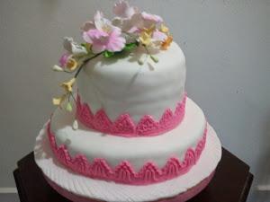 Cake Hantaran 2 Tiers
