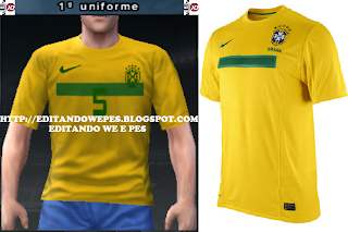 Uniforme Brasil 2011/2012 pes 2011 ps2 etc Taringa