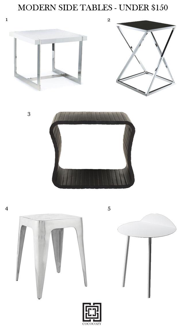 Modern side tables under $150