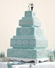 Martha Stewart Teal Wedding Cake