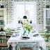 ห้องรับประทานอาหารในโทนสีเขียว