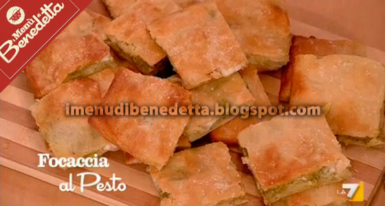 Focaccia al Pesto e Patate di Benedetta Parodi