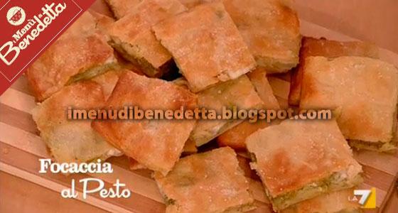 Focaccia al Pesto e Patate di Benedetta Parodi