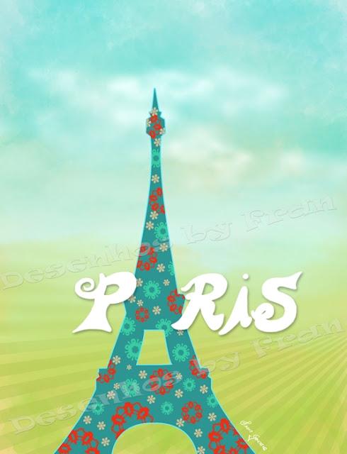 Ilustração Torre Eiffel