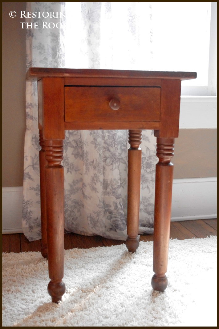 Superieur 1840s Cherry Side Table Table Recently For My Birthday (Thanks, Mom And  Dad!). It Has Such A Pretty Time Worn Patina To It And I Just Had To Give  It A ...