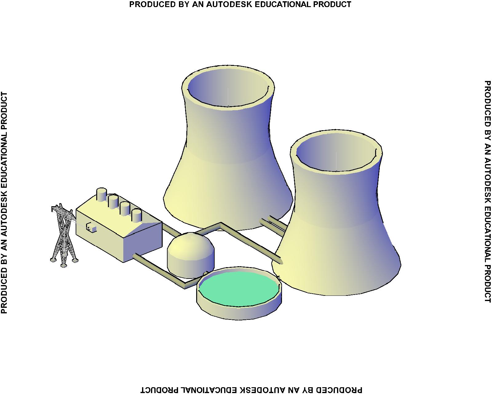 Dibujo asistido taller 29 planta nuclear
