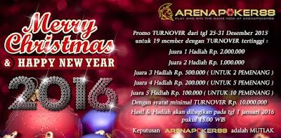 Pemenang Promo Natal & Tahun Baru 2016 ArenaPoker88